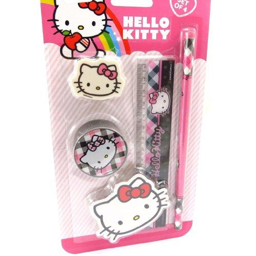 Hello Kitty [K3762] - Schule set 'Hello Kitty' schwarz - Lineal-set Hello Kitty