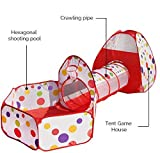 Tenda per Bambini da Interno / Esterno, Pop Up Tenda Gioco Bambino Richiudibile Kids Play House SFERE NON INCLUSA