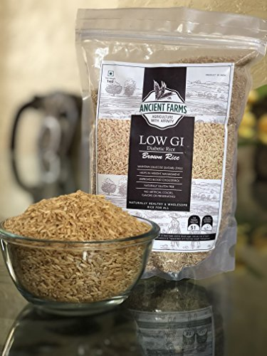 Ancient farms brown rice | Gluten free Rice | No artificial colors | No preservatives | Low fat rice | Low GI rice | High Protein rice