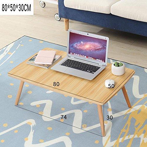 NYDZ Schreibtisch-Computer-Tisch-großes Bett-Behälter-faltbares Stand-glattes Frühstücks-Umhüllungs-Unterstützungs-Lesebuch-Vielseitigkeit (Farbe : A, größe : 80 * 50 * 30cm) -