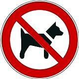 Interdit aux chiens - autocollant vinyl waterproof - Diamètre de 200 mm