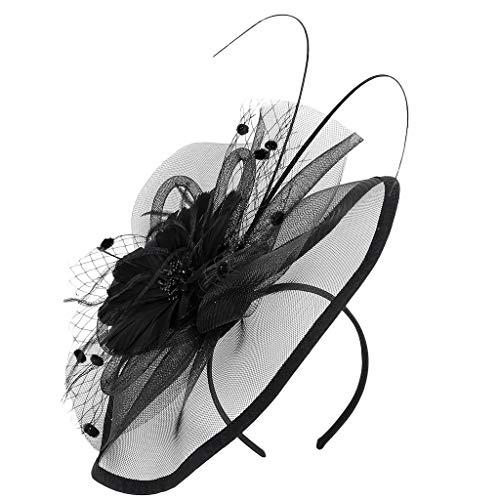 VBWER Damen Stirnband schwarz Schwarz Freie Größe
