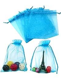 100 piezas, bolsas de organza extra grande 13X 18 cm, bolsas de regalo de organza con cordón para joyas, bolsas de regalo, bolsas de dulces