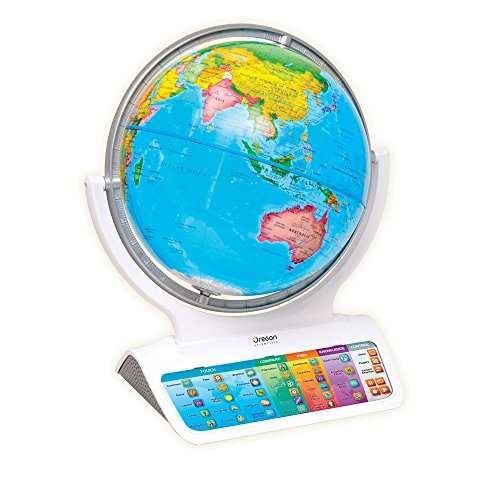 Oregon-Scientific-SG338C-Globo-terrqueo-interactivo-Smart-GlobeTM-Infinity-Gris-o-Blanco