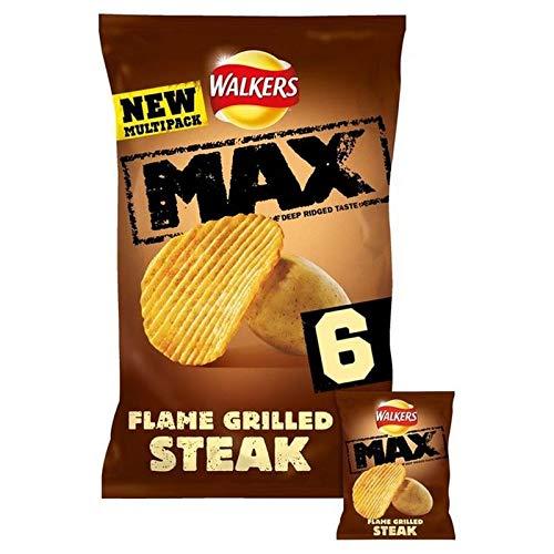 4x Schüttler Max Flamme Gegrilltes Steak Chips 6 X 27G -