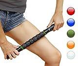 Rouleau bâton de massage pour les muscles pour les coureurs et les athlètes, relâchement myofascial instantané, soulagement de la douleur, des points gâchette, des jambes, des crampes, prévention des blessures, Green