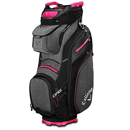 Callaway Golf 2019 Org 14 Cartbag, Unisex-Erwachsene, CART Bag, Black/Titanium/Pink