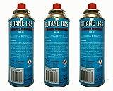 3 Stück Gaskartusche Butangas 227g Butangasflasche Gaskocher Gasflasche Camping
