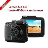 Dash Cam, Ultra HD 4K 2880X 2160P Dash Cam, Obiettivo grandangolare da 150gradi, Dash telecamere per auto con visione notturna, Novatek 96660Chip GPS Logger WiFi macchina fotografica di guida di veicoli registratore DVR