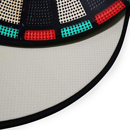 XiangHeFu Teppiche Runder Durchmesser 92 cm / 36,2 Zoll Fußmatten Vintage Spiel Dartscheibe Rad Schädel Weichen Teppich Personalisierte Matte für Küche Wohnzimmer Esszimmer Schlafzimmer Dekorative