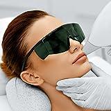 Premium Lichtschutzbrille für die HPL/IPL Haarentfernung - mit Schutzhülle und Brillenputztuch - besonderer Tragekomfort und optimaler Schutz für Ihre Augen