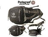 schwarz -Pentagram Geocaching Brusttasche, Wimmerl, Bauchtasche, Gürteltasche, mit Platz für GPS, Handy und Werkzeug, Mutlitool usw.