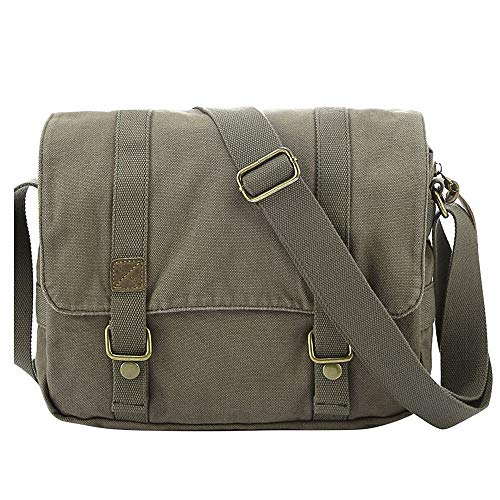 aea52492bad86 PANGOIE,Lona Retro Weekender Messenger Bag Para Viajes Crossbody Sports  Over Shoulder Bandolera Vintage Casual