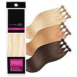 ELEGANCE-HAIR® Bonding Extensions 20x 1g Echthaar-Strähnen Keratin Haarverlängerung 40cm Glatt #P24/60 - Hollywood Mix Blonde - Hollywood-Blond Gesträhnt