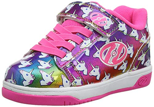 Heelys Mädchen Dual Up X2 Sneaker, Mehrfarbig Rainbow/Unicorn, 31 EU - Heelys X2 Mädchen