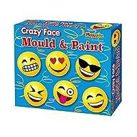 Make Your Own Crazy Emoji Faces Mould And Paint Fridge Magnet Craft Activity Set For Children