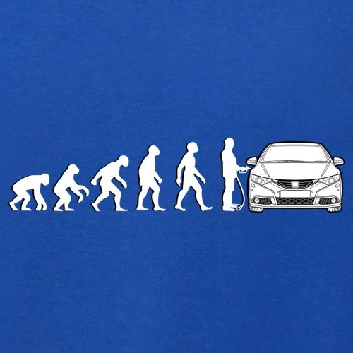 Evolution of Man - Civic Fahrer - Damen T-Shirt - 14 Farben Royalblau