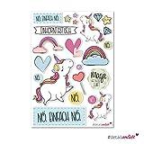 #detailverliebt 24 Einhorn-Sticker I dv_232 I DIN A4 Bogen I Einhorn-Aufkleber für Laptop Handy Scrapbooking Kinder-Geburtstag Schultüte Geschenkidee