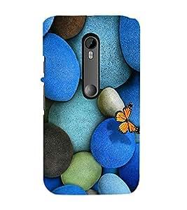 Vizagbeats Blue Color Pebbles Back Case Cover for Motorola Moto g3