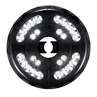 ANGTUO Outdoor Parasol Lights with 28 LED Beads, 3 Lighting Levels, Two Power Supply Methods (Rechargeable and Battery Operated), Suitable for Parasols, Tents, Or Other Outdoor Activities