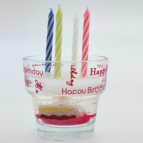 Comptoir des bougies Bougies et verre Gateau anniversaire - Rose
