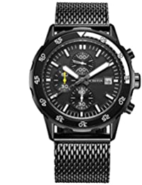 Luxury Brand OCHSTIN Sports Watches Men Chronograph Date Clock Casual Quartz Men's Wrist WatchBlack black
