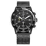 Luxury Brand OCHSTIN Sports Watches Men Chronograph Date Clock Casual Quartz Men's Wrist WatchBlack black
