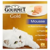 8 x 85 gr scatolette gatto gourmet gold mousse vari gusti
