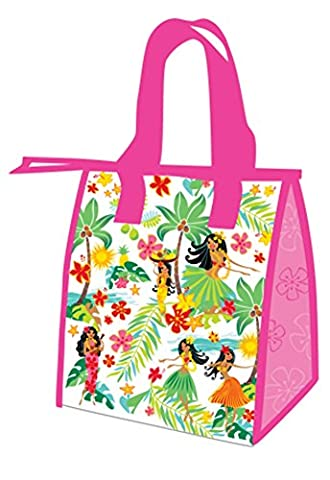 Hawaiian Island Hula Honeys Pink Small Insulated Reusable Lunch Bag by Welcome to the Islands
