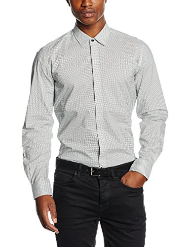 AnTOnY MORATO Herren Hemden Camicia Manica Lunga weiß (1000/BIAnCO)