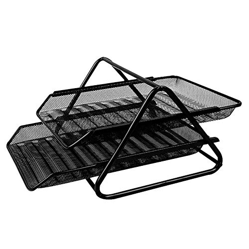 Metallregal Datei-Rack-Informationsrahmen Schublade Datei-Box-Datei Halter Datei Spalte 2 Layer Storage Box Office Supplies Tabelle Rack-Datei Korb Dateiablage Multi-Funktions-Bibliothek -