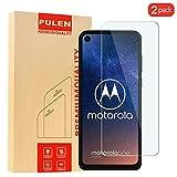 [2 Pack] PULEN Kompatibel with Motorola One Vision Panzerglas Schutzfolie, 9H Glas Bildschirm schutzfolie [Anti-Kratzen] [Bubble-frei][Fingerabdruck-frei] HD Klar folie for Motorola One Vision