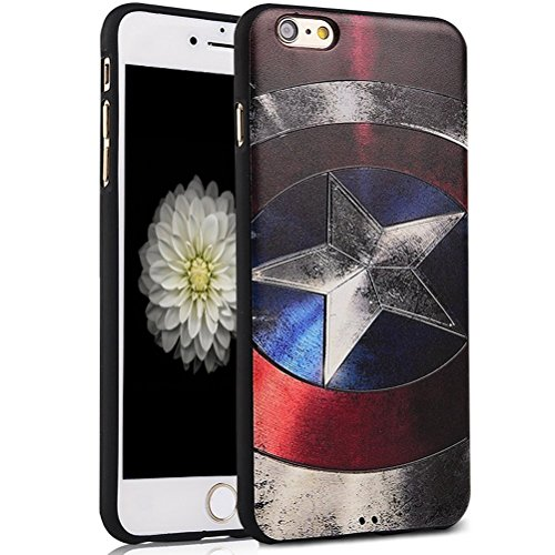 hyait® iPhone 6S Case, [Universe Galaxy] 3D Embossed Painting Series Protective Case Cover for iPhone 6/6S 4.7, rutschfest, Soft TPU Gel Case Captain