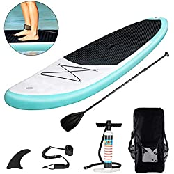 Triclicks Stand Up Paddle Gonflable 300x76x15cm (Ép) Rouge et Noir, Pompe Haute Pression, Pagaie/Leash/Sac, Aileron Central Amovible, Kit de Réparation