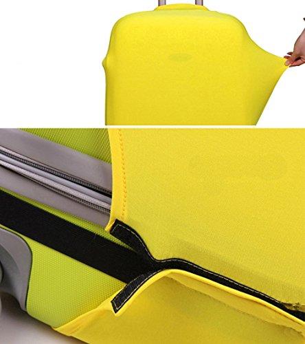 JWBBU Kofferschutzhülle Kofferschutz Kofferbezug L Schwarz