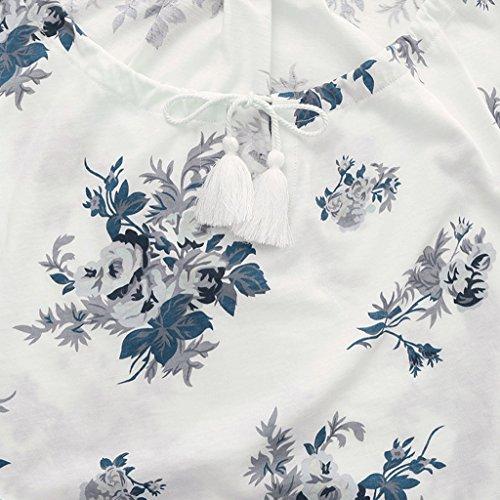 Le signore dolci del cotone di estate short-sleeved pigiami domestici vestito di servizio ( Colore : Bianca , dimensioni : L. ) Bianca