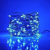 FENSIN Lampe Fil De Cuivre Enfichable, Cordes étoilées Extra Longues De 20x200 Mètres Chauffent Le Blanc Chaud Sur Un Fil Flexible