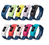 Dingtool 10pcs Silikon Ersatz Deckel Sleeves Abdeckungs-Fälle Band-Abdeckung Armband Cover für Fitbit Charge/Fitbit Charge 2 Protector