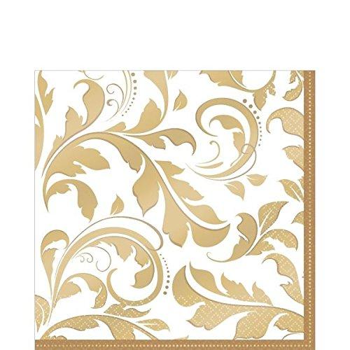 amscan-international-tovaglioli-di-carta-per-festa-nozze-doro-confezione-da-16-colore-oro