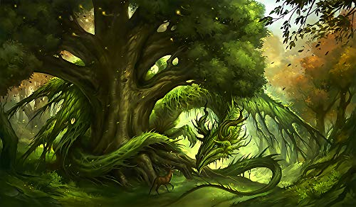 Puzzle 1000 Teile Puzzel Für Erwachsene Kind Puzzles-Grüner Drachenbaum-Aus Holz Puzzle Panorama Art DIY Leisure Game Fun Geschenk Spielzeug Geeignete Freunde Familie