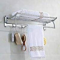 XINSU Home El Estante para Toallas de baño de Acero Inoxidable Cuenta con una estantería empotrada