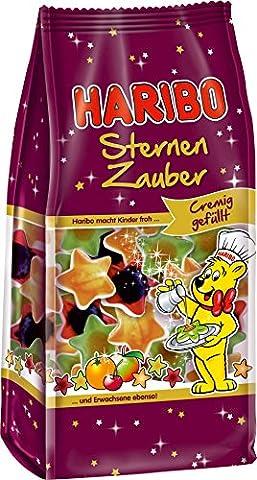 Haribo Weihnachts Fruchtgummi, 2er Set, Sternen Zauber, Gummibären, Schaumzucker, Tüte, 250 Gramm (Honig Zimtpulver)