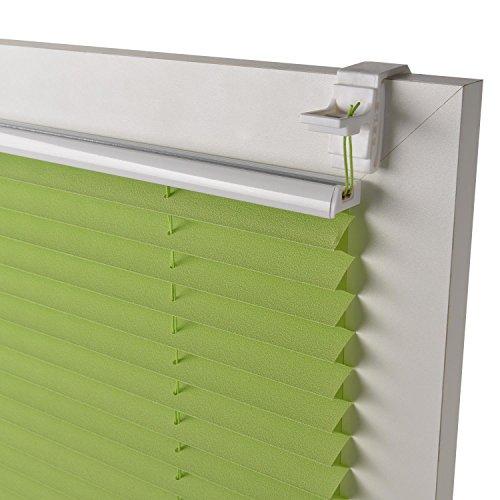 Sol Royal Plissee SolDecor P25 – 45×100 cm Grün – Klemm-Fix ohne Bohren – Plissee-Rollo Jalousie für Fenster & Türen - 6