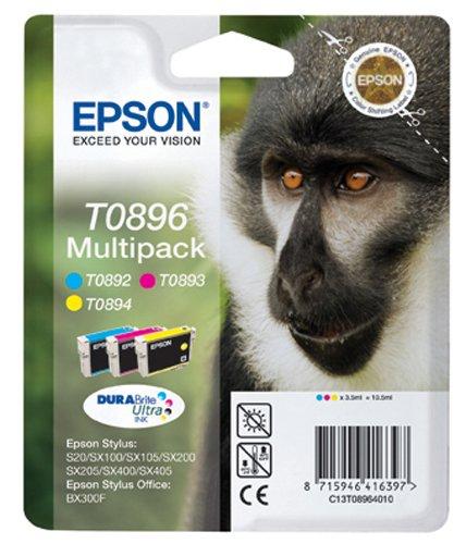 Epson T0896 Tintenpatronen Multipack (cyan, magenta, gelb) (Patronen Gelb Tinte Epson 200)
