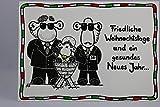 sheepworld - 50307 - Postkarte, Weihnachten, Schaf, Friedliche Weihnachtstage und ein gesundes Neues Jahr.