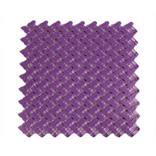 TOOGOO(R) Paquet de 2 Tapis Epissage Anti-derapant de Salle de bains, Violet