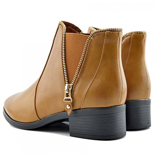 Kick Footwear Chelsea Boots, Stivali donna Camel