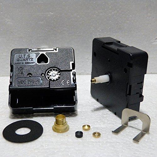 Ricambio per movimento al quarzo UTS Euroshaft per orologio a pendolo (lunghezza asse 16mm) Minute Hand Fixing Nut Gold Open