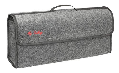 Walser 30304 Kofferraumtasche Toolbag mit Klettband 21.3 x 16 x 57 cm, Grau, Größe : XXL