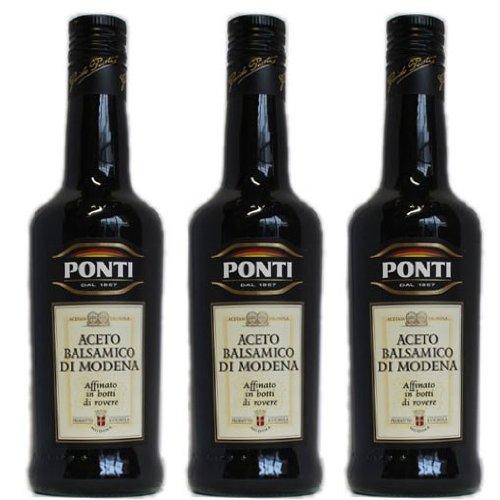3x Ponti Aceto Balsamico 'Di Modena', 500 ml
